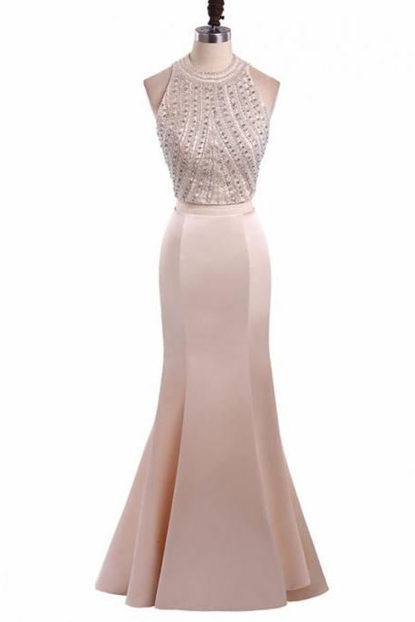 Long Prom Dresses, Two Pieces Prom Dresses, Mermaid Party Prom Dresses, Satin Prom Dresses, Popular Prom Dresses,Prom Dresses Online, LB0143