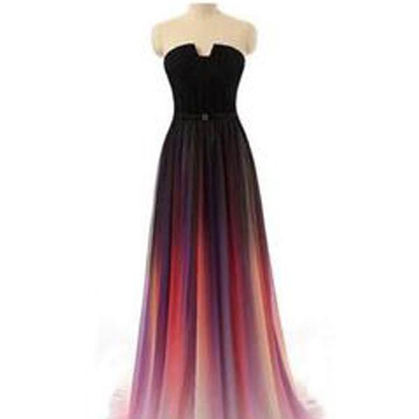 Long Prom Dresses, Gradient Prom Dresses, Party Prom Dresses, Chiffon bridesmaid dress, Cheap Prom Dresses, Popular Prom Dresses,Prom Dresses Online, LB0015